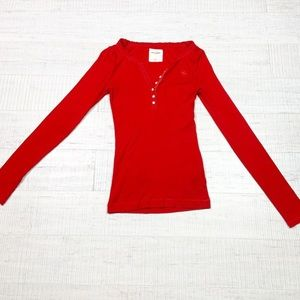 Abercrombie Kids size XL red long sleeves